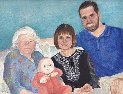 Painting - Four Generations by Michelle Welles