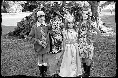 Photograph - Four Girls In Halloween Costumes, 1971, Part One by Jeremy Butler