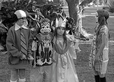 Photograph - Four Girls In Halloween Costumes, 1971, Part Two by Jeremy Butler