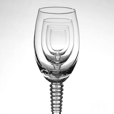 Wine Reflection Art Photograph - Four Glasses by Andreas Berheide