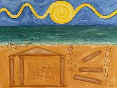 Murphy Painting - Four Goddesses by Patrick J Murphy