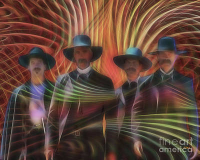 Digital Art - Four Horsemen by John Beck