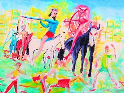 Painting - Four Horsemen by Stanley Morganstein