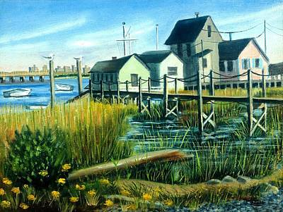 Painting - High Tide In Broad Channel, N.y. by Madeline  Lovallo