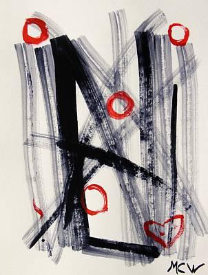 Four Hugs Art Print by Mary Carol Williams