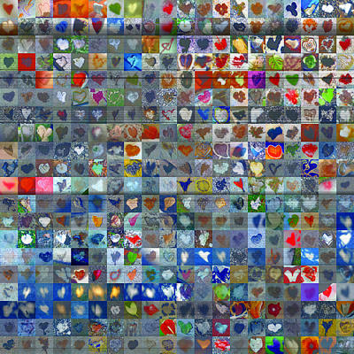 Mosaic Digital Art - Four Hundred And One Hearts by Boy Sees Hearts