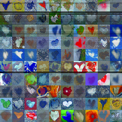Grid Of Heart Photograph - Four Hundred Series  by Boy Sees Hearts