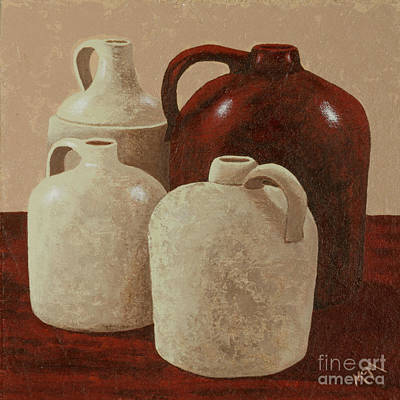 Crocks Painting - Four Jugs by Garry McMichael