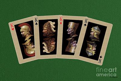 Pharaoh Mixed Media - Four Kings by Arturas Slapsys