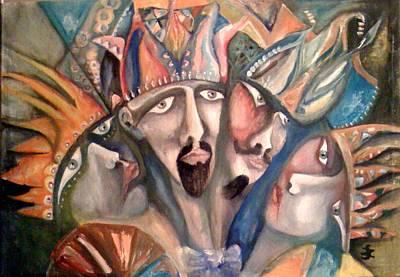 Four Kings Art Print by Gyorgy Szilagyi