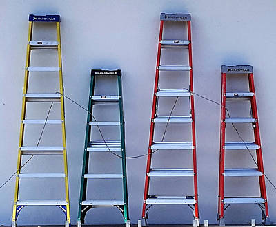 Photograph - Four Ladders by Rob Hans