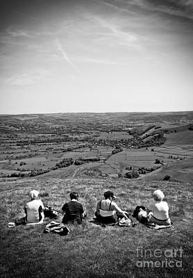 Peak District Photograph - Four Ladies On A Hill by Meirion Matthias
