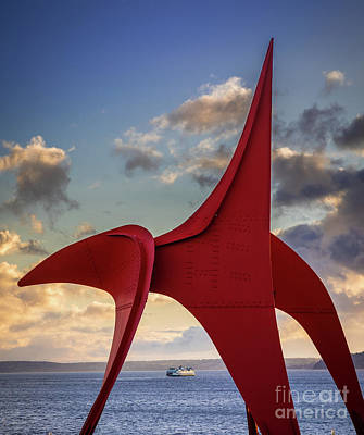Photograph - Four Legged Red And Ferry by Inge Johnsson
