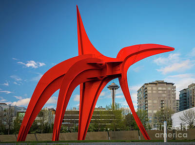 Photograph - Four Legged Red And Space Needle by Inge Johnsson