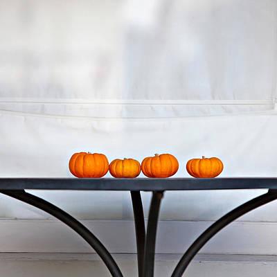 Photograph - Four Little Pumpkins by Art Block Collections