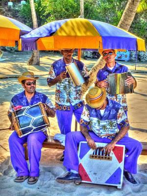 Four Man Band Print by Michael Garyet