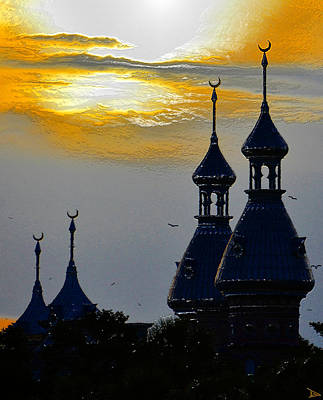 Painting - Four Minarets  by David Lee Thompson