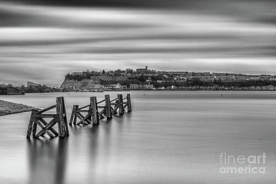 Photograph - Four Minutes At Cardiff Bay Mono by Steve Purnell