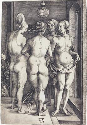Drawing -  Four Naked Women by Albrecht Durer