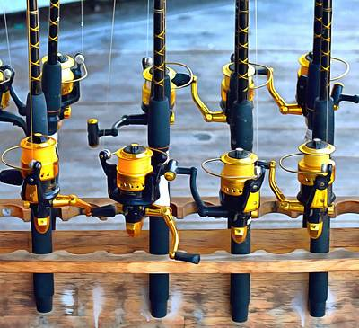 Photograph - Four Of A Kind Fishing Poles by Floyd Snyder
