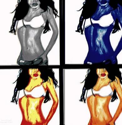 Four Of A Kind Pop Art Art Print by Larry E Lamb
