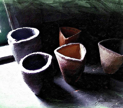 Painting - Four Of Cups by Joan Reese