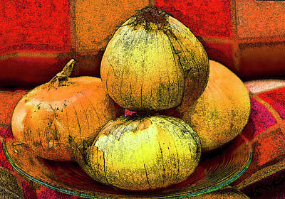 Four Onions  Art Print