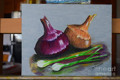 Painting - Four Onions by Melvin Turner