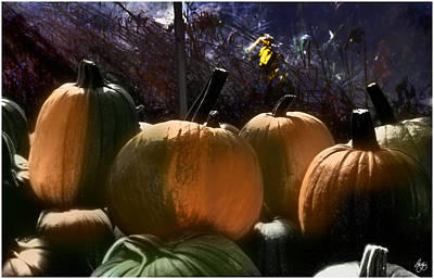 Photograph - Four Painted Pumpkins by Wayne King