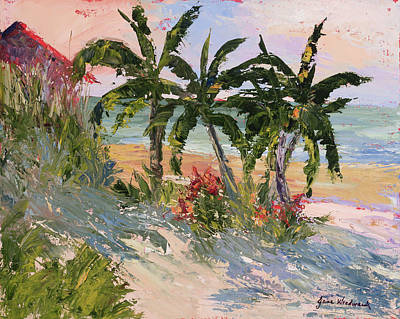 Four Palms Art Print by Jane Woodward