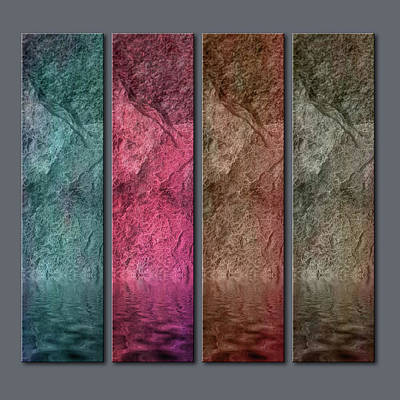 Digital Art - Four Panel Quadriptych by WB Johnston