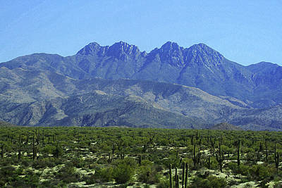 Digital Art - Four Peaks Arizona by Tom Janca