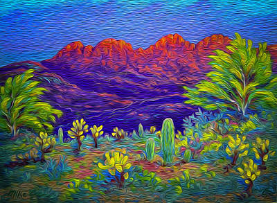 Painting - Four Peaks Blaze by Michael Gross