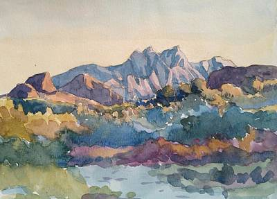 Wall Art - Painting - Four Peaks by Edward Abela
