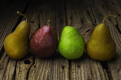 Pear Photograph - Four Pears Still Life by Garry Gay