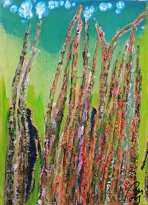 Inner World Painting - Four People In The Forest by Bachmors Artist
