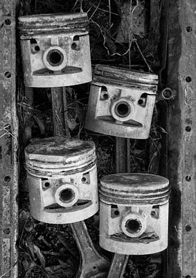Photograph - Four Pistons In A Pan by Paul DeRocker