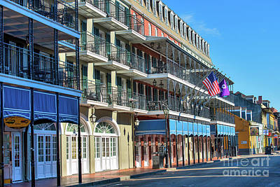 French Quarter Photograph - Four Points On Bourbon Street by Tod and Cynthia Grubbs