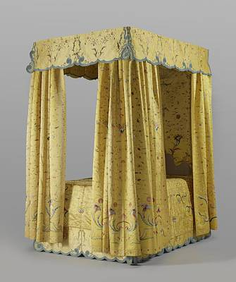 Tapestry - Textile - Four Poster Bed 1760 To 1770 by R Muirhead Art
