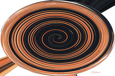 Digital Art - Four Pottery Bowls In A Twist. by Tom Janca