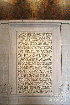 Photograph - Four Score Speech At Lincoln Memorial by Tom Doud