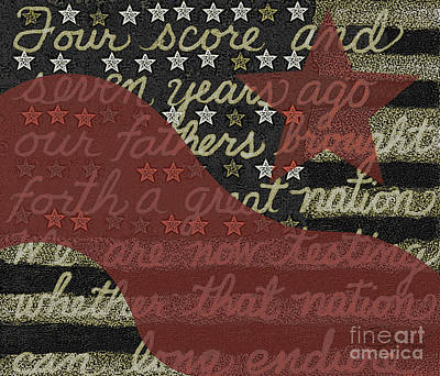 Digital Art - Four Score Star And Stripe by Carol Jacobs
