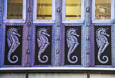 Photograph - Four Seahorses by Alice Gipson