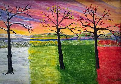 Painting - Four Seasons by Anne Sands