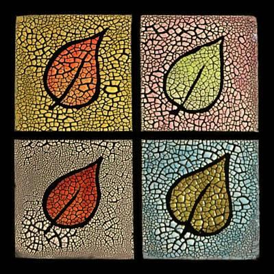 Mozaic Photograph - Four Seasons Ceramic Plate/tile by Nathan Ryan