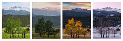 Photograph - Four Seasons - Longs Peak by Aaron Spong