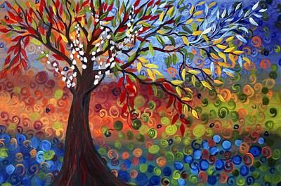 Four Seasons Art Print by Luiza Vizoli