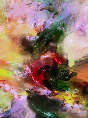 Mixed Media - Four Seasons Mood Abstract by Georgiana Romanovna