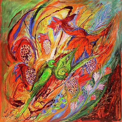 Four Seasons Of Vine Autumn Art Print by Elena Kotliarker