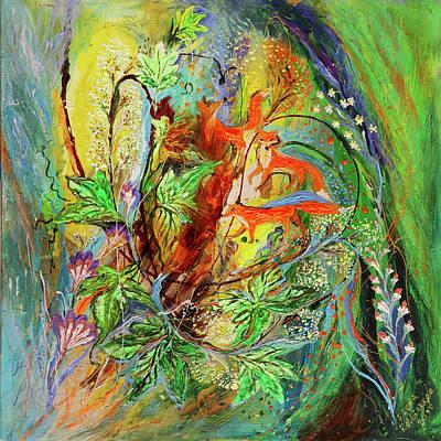 Four Seasons Of Vine Spring Art Print by Elena Kotliarker